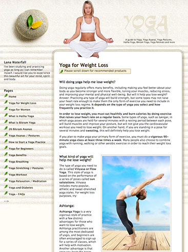 Creative365 web site design yoga los angeles