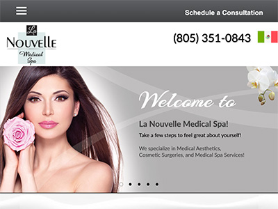 website design for a medical spa by creative365
