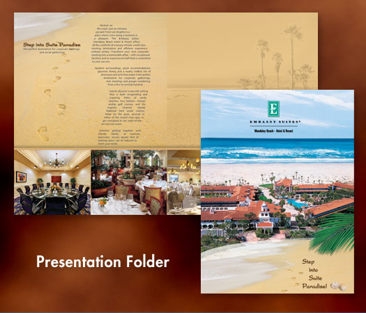 Embassy Suites presentation folder Creative365 Graphic Design