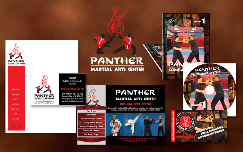 design of logo, promotional cards, dvd, cd, ientity for martail arts