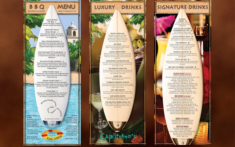 restaurant and lounge menu designs oxnard