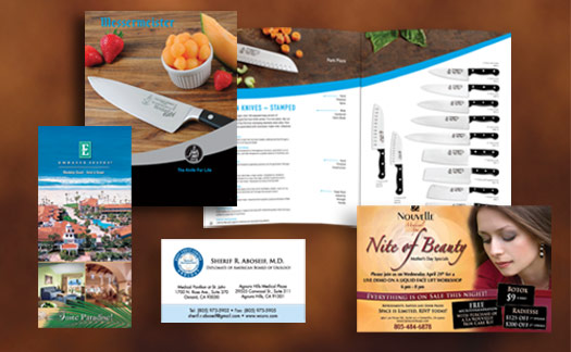 Creative365 printing of brochures, flyers, stationary
