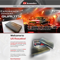 Website for a company offering high quality car amplifiers