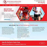 Website for Active Spine and sports care