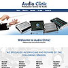 website design for a audio amplifiers and electronics service reoair