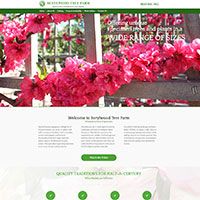 Website for a company specializing on growing of large trees, oaks, vines and shrubs