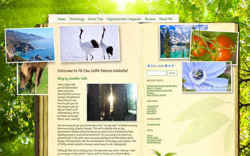 web design and blog for nature, ventura