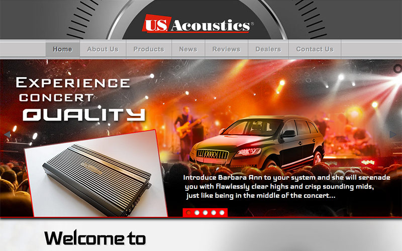 web design for us acoustics, camarillo, ventura