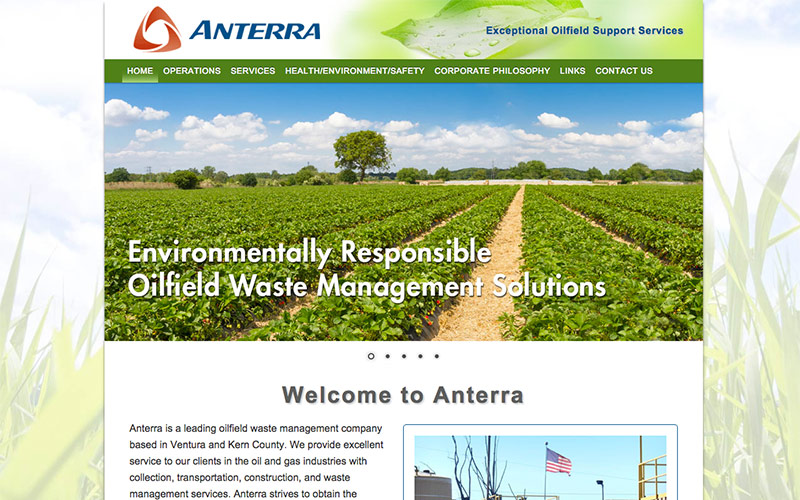 web design for oil industry, ventura county