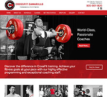 Website for a company offering CrossFit, Fitness and Weightlifting classes