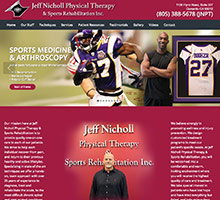 website design for Physical Therapy and Sports Rehabilitation
