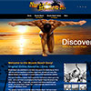 website design highlighting the history of Muscle Beach in Santa Monica and Venice