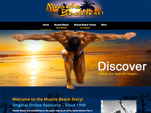 Creative365 quality website design for mucle beach