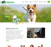 website design for food supplements company