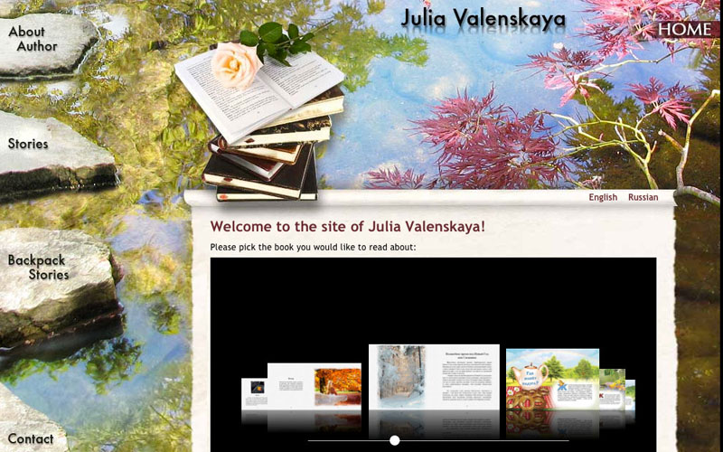 website for Julia Valenskaya, writer