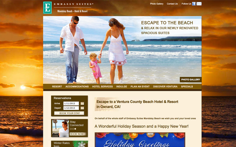 web design for embassy suites oxnard