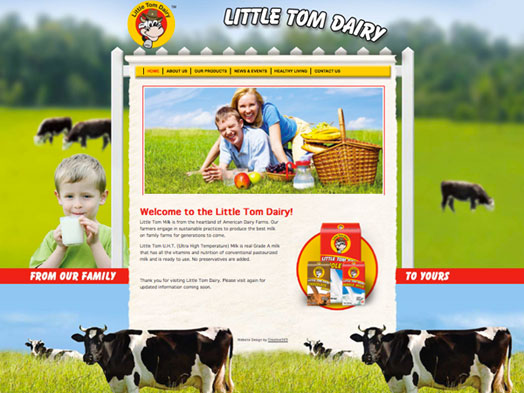 Creative365 website design dairy company