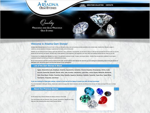 Creative365  website design samples gemstones