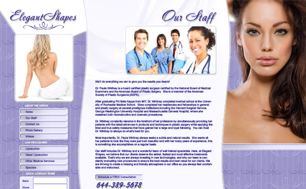 Creative365 website design medical office