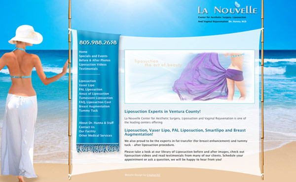 Creative365 medical web site design los angeles