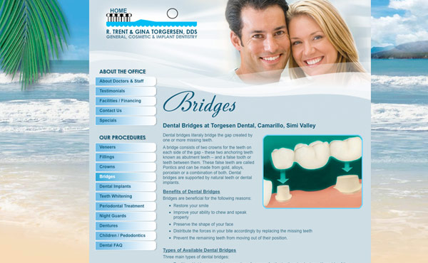 dental website design by Creative365, ventura county