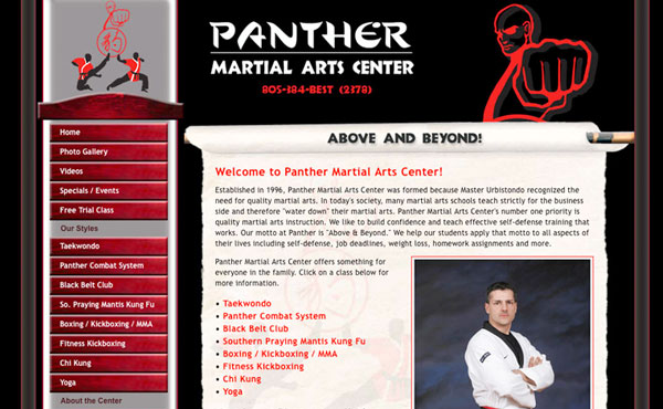 Creative365 website design martial arts camarillo
